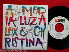 "ALEX y CHRISTINA ROSENVINGE A Media Luz 7"" SINGLE 1988 Spain PROMO (EX-/EX-) 3"