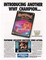 1987 Micro League Wrestling Commodore 64 128 Atari ST Vtg Print Ad