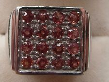 Q87 Mens / Gents 9ct White Gold 1 & 1/4 carat Sunset Ruby ring size U