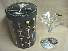 """LOLITA MARTINI COLLECTION """"Wedding"""" Hand Painted Martini Glass in Gift Box"""