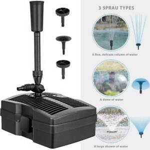 VIVOHOME 530 GPH Pond Filter Pump Fountain Kit with UV Sterilizer for 920 Gallon