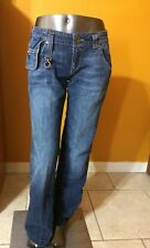 Miss Sixty Blue Jeans Style Crimson One Size 29 Flare 100% Cotton Italian