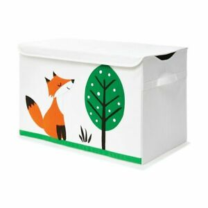 Fox Design Toy Box with Lid Toys, Plush Animals and More Gift for Kid's JK