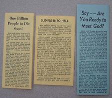 Dr. C.C. Brissey - 6 Tracts - Pentecostal Dentist - Oklahoma 1970s?