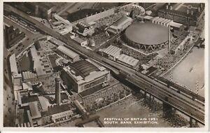 1951 FESTIVAL OF BRITAIN POSTCARD  SOUTH BANK EXHIBITION