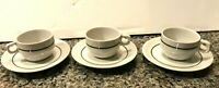 RARE SET OF 3 VINTAGE EXPRESSO COFFEE CUPS & SAUCERS - PORTUGAL PORCELANAS