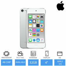 "Apple iPod Touch (32GB) 6th Gen 4"" Retina Display, FaceTime & iMessage - Silver"