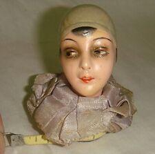 Vintage Figural Pierrot Head Sewing Tape Measure