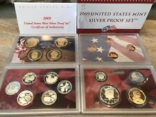 2009 US Mint Silver Proof Set 18 Coins with Box and COA