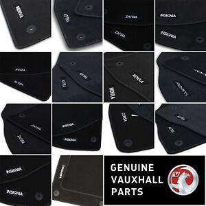 Genuine OE Vauxhall Velour Black Tailored Front/Rear Floor Car Mats