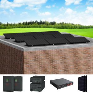 PV Insel Solaranlage offgrid | 4,8kWh Speicher | 2,7 kWp | 230V | 5 Montagearten