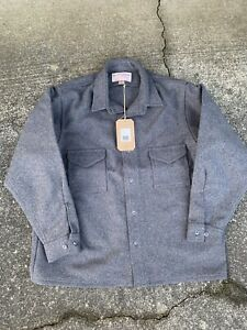 NWT Filson Jac shirt 100% wool mens Size 50 Hunting Gray Grey Button up Jacket