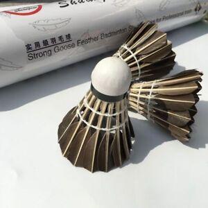 Badminton Shuttle Cock Black Color Goose Feathers Sandwich Cork Head Accessories
