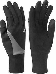Nike AC9759 042 Womens Size XS Black/Grey Running Gloves