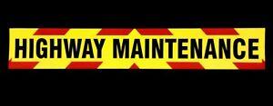 Highway Maintenance non reflective vehicle warning sign Magnetic / Self Adhesive