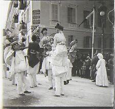 Carnaval de Nice France Plaque de verre stéréo positive, 1903