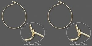 100 GOLD Plated WINE GLASS RINGS / Ear HOOPs 25mm/1 inch diameter