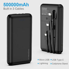 Power Bank 500000mah Portable External Battery 3 Cable Charger 4 Output AU