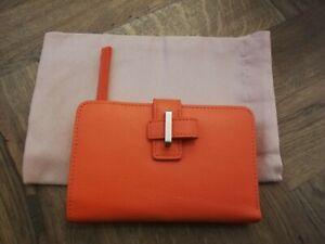 Radley BRAND NEW Pockets Medium Leather Bifold Purse SPRING VALE ORANGE