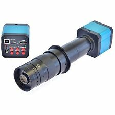 14MP HD TV HDMI USB Industry Digital C-mount Microscope Camera TF Card 180x Zoom