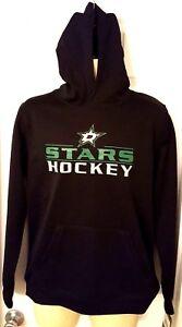 DALLAS STARS Youth Hoodie Size Large 14/16 Black Soft Shell Sweatshirt New