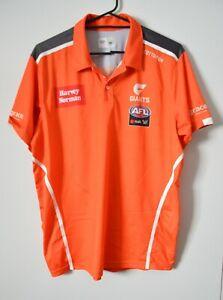 Cotton On Men's Polo T Shirt Size Medium Orange AFL GWS Giants Team