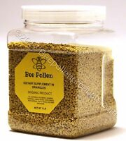 BEE POLLEN 100% Pure Natural Bee Pollen Granules 1 lb FDA Certified
