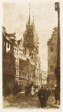 NÜRNBERG - KÖNIGSTRASSE - Frank Milton Armington - Radierung 1912