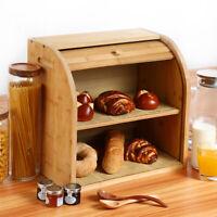 G.a HOMEFAVOR Bamboo Bread Box Countertop BreadStorage Bread Bin Kitchen Storage