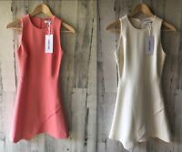 Elizabeth and James New Ayla Dress Asymmetrical Fit Flare Ivory Apricot