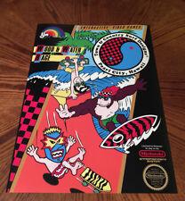 T&C Surf Designs Wood & Water Rage NES box art video game poster nintendo 80s