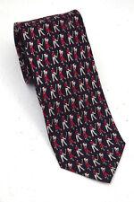 novelty tie, Golfers design, The Tie Rack, 100% silk vgc