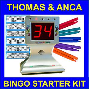 Bingo Starter Kit with Disco Bingo Machine Tickets & Felts Home Party Lockdown