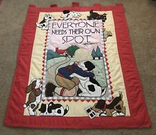 """Mary Engelbreit Vintage Large Quilt Wall Hanging """"Everyone Needs Their Own Spot�"""
