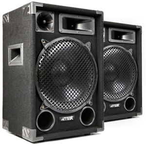 "1200 Watt Max MAX12 12"""" Speakers - Home Audio Stereo Hi-Fi DJ Party UK Stock"