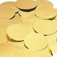 """Gold Shiny Metallic Sequins Round 1.5"""" Large Couture Paillettes"""