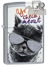 Zippo 29619 Cat With Glasses Lighter with PIPE INSERT PL