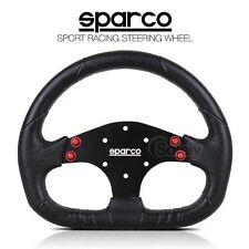New SPARCO P104 Limite 310mm D Shape Black Alloy Spoke PU Sport Steering Wheel