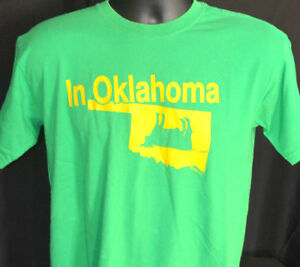 Nothing Tips Like A Calf In Oklahoma T Shirt RARE TEE Funny Slogan 2 SIDED State