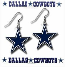 DALLAS COWBOYS EARRINGS - WHAT A COWGIRL WANTS - FOOTBALL JEWELRY FREE SHIP #BH'