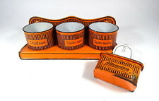 Vintage Enamelware Holder Laundry Products made in Tckecoslovaquie