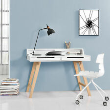 [en.casa] rétro bureau + chaise Blanc Table d'ordinateur Table Console design