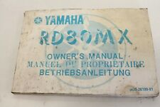 Yamaha RD 80 MX Betriebsanleitung Bedienungsanleitung Anleitung Bj.81'
