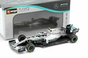 Bburago 1/43 Mercedes AMG Petronas F1 W10 EQ Power+ #77 Valtteri Bottas 38036VB