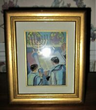 3D Framed Bar Mitzvah Painting By Jean Pierre Weill; Jewish Vitreography