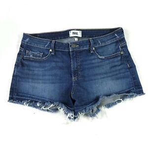 Paige Jeans Womens Daryn Shorts Size 30 Blue Denim Cut-Off Frayed Hem Distressed