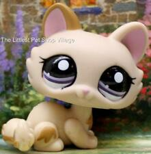 LITTLEST PET SHOP ❄ LIGHT BROWN REITRED KITTY #1444 ❄ NEW ❄ SQUEAKY CLEAN CAT