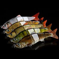 New Lot Multi-jointed  Fishing Lures Swimbait 6# Hooks Minnow Crankbaits Tackle
