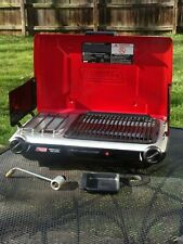 Coleman Camping 2-Burner Instastart Propane Grill Stove Electric Ignition Red