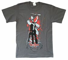 ARMY OF DARKNESS RAISED BOOMSTICK ASH GREY T-SHIRT SMALL NEW MOVIE OFFICIAL